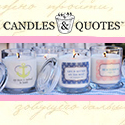 Candles & Quotes 125×125 Button
